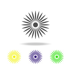 Flower color icon abstract vector, in trendy flat style isolated on white background. Flower abstract vector illustration