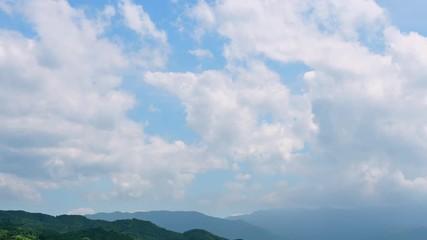Wall Mural - 空と山の風景