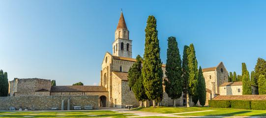 Fototapeta Panoramic view at the Basilica of Santa Maria Assunta in Aquileia - Italy obraz