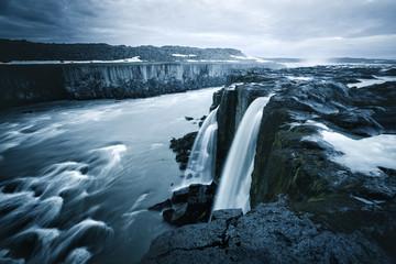 Image of famous Selfoss cascade. Location place Vatnajokull National Park, Iceland, Europe.