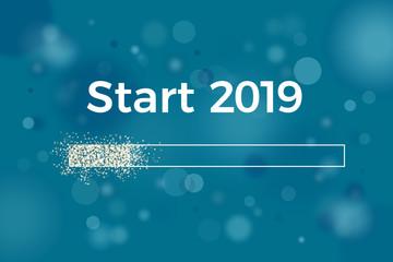 Start 2019 New Year Loading Bar