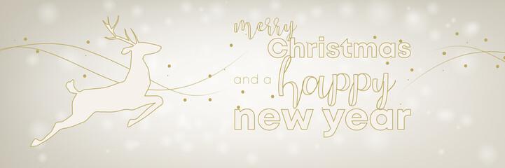 schillernder und festlicher Banner zu Weihnachten und Neujahr