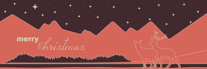 winterlicher Banner mit Weihnachtsgruß
