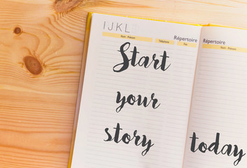 start your story today on notebook