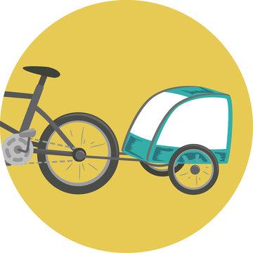 Trailer Bike Illustration