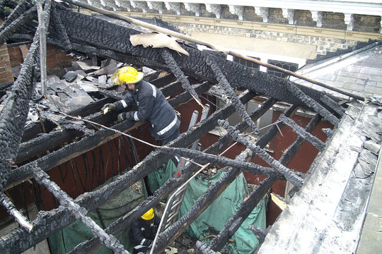 building fire, structural fire damage