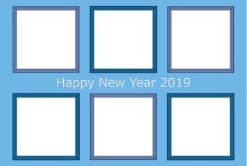 2019年亥年年賀状 写真用フレーム