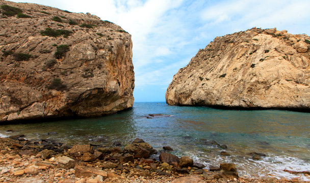 Rocks , sea and blue sky - Jebha Morocco