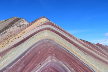Poster South America Country A close up view of Rainbow Mountain, Peru