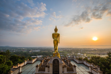 Golden Buddha image of Wat Phra That Khao Noi,Thailand