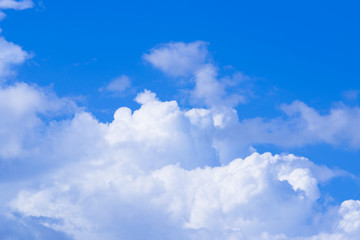 Blue sky with cloud background in various dimensions.