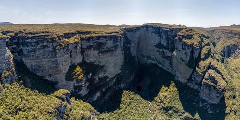 Aero Image of Cachoeira da Fumaça (Smoke Waterfall) in Vale do Capão, Chapada Diamantina National Park, Brazil