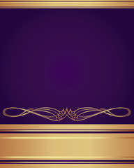 Background-Purple and Gold for a Wedding or Corporate