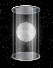 Moon in container