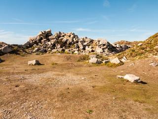 formation of rocks jurassic coast isle of portland dorset nature landscape summer