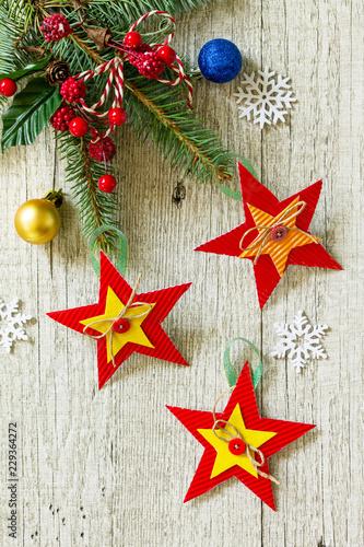 Christmas Gift Or Christmas Decorations Of Handmade Paper Handmade