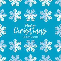 Seamless vector background with decorative snowflakes. Merry Christmas and Happy New Year! Winter pattern. Can be used for wallpaper, textile, invitation card, wrapping, web page background.