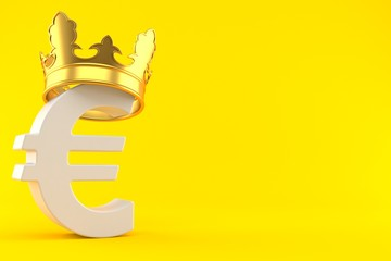 Euro currency with crown