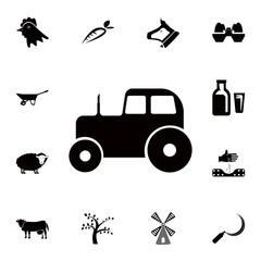 tractor icon. Detailed set of farm icons. Premium quality graphic design icon. One of the collection icons for websites, web design, mobile app