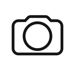 Photo camera icon, Photo camera in flat style,  vector illustration