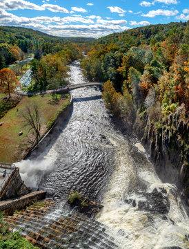 New Croton Dam, Croton-On-Hudson, Croton Gorge Park, NY. USA