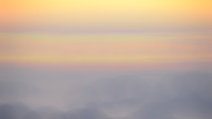 Blurred Sunrise Background, Early Morning Light, The Natural Lighting Phenomena.
