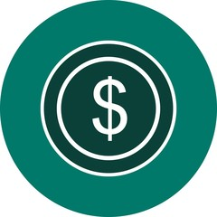 Dollars Ecommerce Glyph Circle Icon
