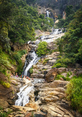 The Ravana Falls, popular sightseeing attraction in Ella, Sri Lanka.