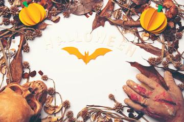 Halloween Bats on background