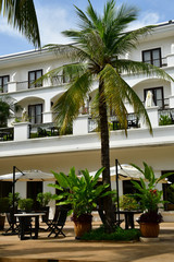 Siem Reap; Kingdom of Cambodia - august 23 2018 : hotel