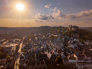 Sonnenuntergang über Marburg and der Lahn