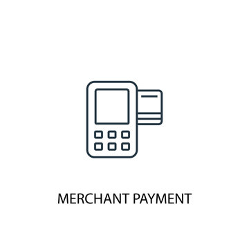 Merchant payment concept line icon. Simple element illustration. Merchant payment concept outline symbol design. Can be used for web and mobile UI/UX