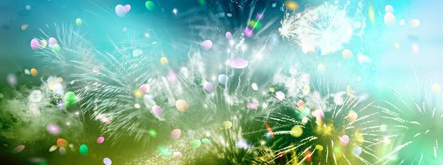 feuerwerk lichter glitzer konfetti