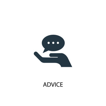 advice icon. Simple element illustration. advice concept symbol design. Can be used for web and mobile.