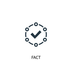fact icon. Simple element illustration. fact concept symbol design. Can be used for web and mobile.