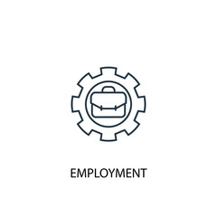 employment concept line icon. Simple element illustration. employment  concept outline symbol design. Can be used for web and mobile UI/UX