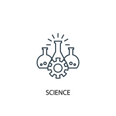 science concept line icon. Simple element illustration. science  concept outline symbol design. Can be used for web and mobile UI/UX