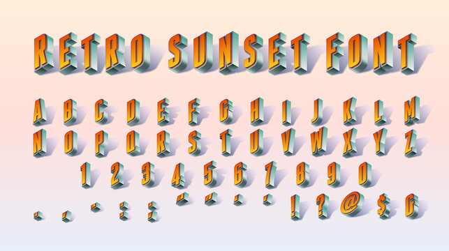 Retro Sunset Font