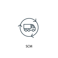 SCM concept line icon. Simple element illustration. SCM  concept outline symbol design. Can be used for web and mobile UI/UX
