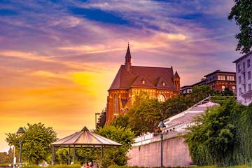 Beautiful gothic church of Collegium Albertinum in Bonn, Germany.
