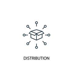 distribution concept line icon. Simple element illustration. distribution  concept outline symbol design. Can be used for web and mobile UI/UX
