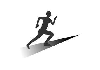 Run people, sport logo