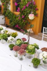 Floral arrangement for a wedding