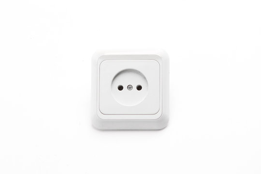 electric outlet.isolated on a white background. photo with copy space