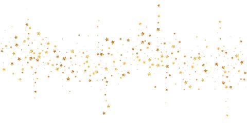 Gold stars random luxury sparkling confetti. Scatt