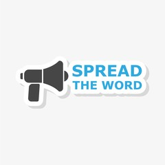 Spread the Word Share Information Bullhorn Megaphone