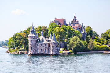 Historic Boldt Castle in 1000 Islands of New York