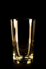 Silhouette of a glass on a black background