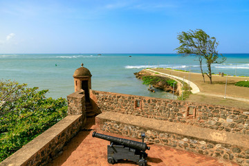 View from Fortaleza San Felipe over the sea, Puerto Plata, Dominican Republic.