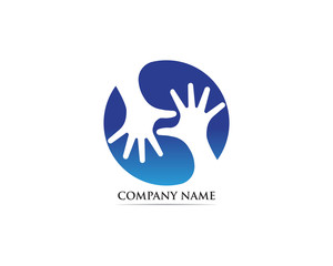 Hand help adoption logo vector